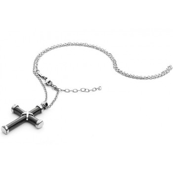Collana 4US Black Cross